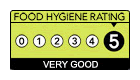 I am food hygiene rated 5 (Very Good) by the Food Standards Agency